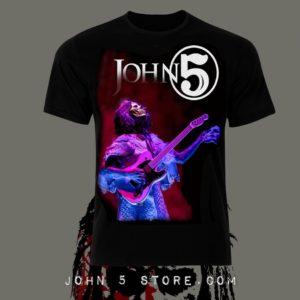 3303a783af675 John 5 – Skull Mask Tour T shirt